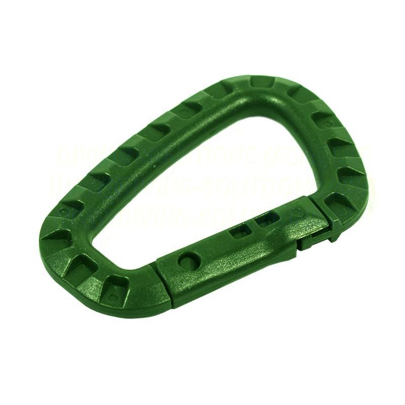 Karabiner, Plastic - Green