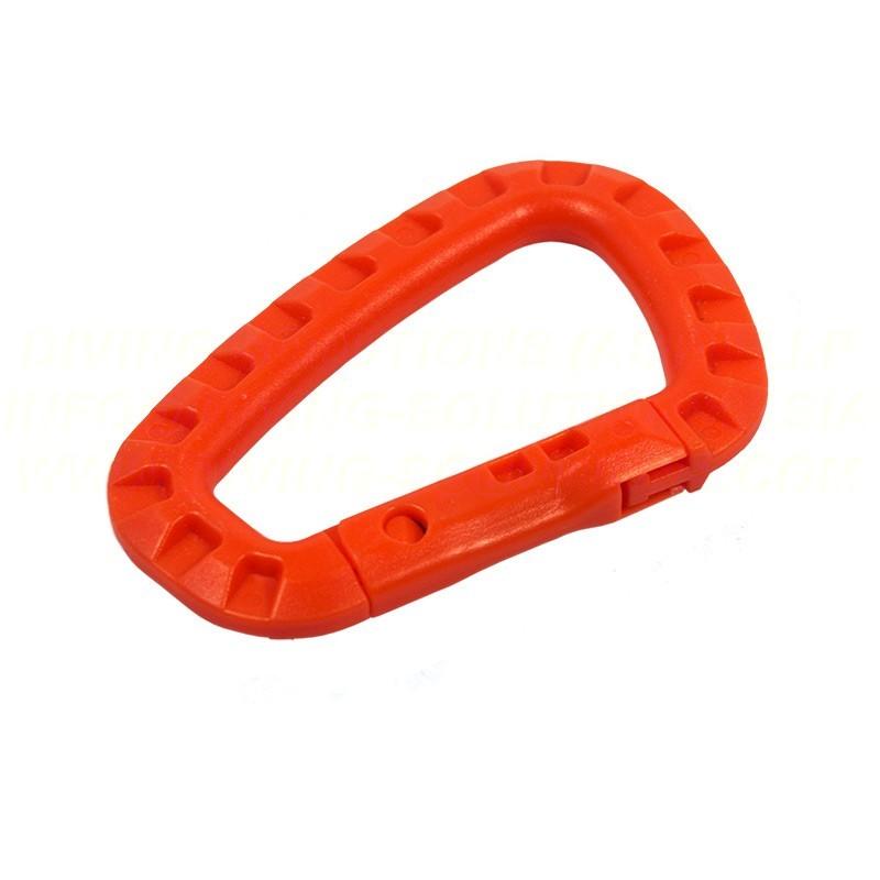 Karabiner, Plastic - Orange