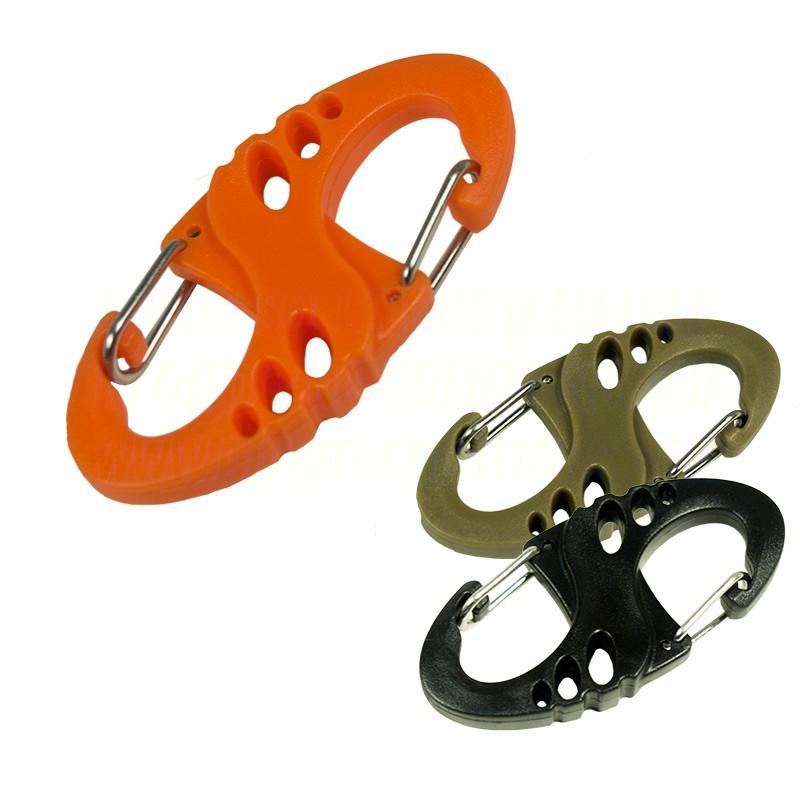 S Clip - Plastic - Orange