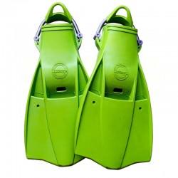 Aquatec Rubber Fins - Lime Green