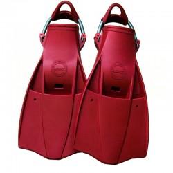 Aquatec Rubber Fins - Red