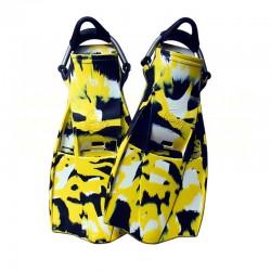 Aquatec Rubber Fins - Camo Yellow