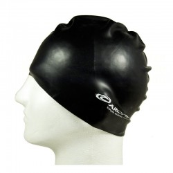 Silicone Swimming Cap - Black